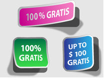 Gratis stickers Stock Images