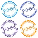 GRATITUDE badge isolated on white background. Royalty Free Stock Photography