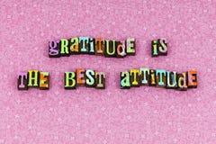 Gratitude best attitude hope love letterpress. Gratitude best attitude hope love typography letterpress give peace laugh believe peace positive thinking faith royalty free stock images