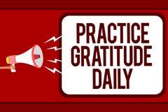 Gratitude de pratique en matière des textes d'écriture de Word quotidienne Le concept d'affaires pour soit reconnaissant à ceux q illustration libre de droits