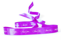 Pink waving ribbon of gratitude Royalty Free Stock Images