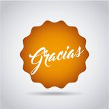 Gratitude message label  icon Royalty Free Stock Photos