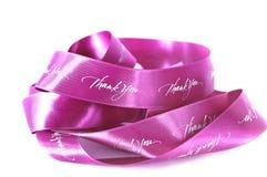 Pink ribbon of gratitude Royalty Free Stock Images