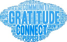 Gratitude Word Cloud Stock Photos