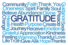 Gratitude Word Cloud Stock Images