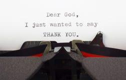 Gratitudine a Dio Immagini Stock Libere da Diritti