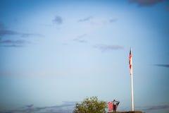 Grato para a liberdade, comemorando o Dia da Independência imagens de stock