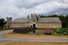 Gratot Castle στη Νορμανδία Στοκ εικόνα με δικαίωμα ελεύθερης χρήσης
