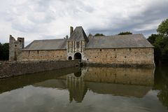 Gratot-Schloss in Normandie Lizenzfreie Stockfotos