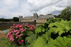 Gratot-Schloss in Normandie Stockfotos