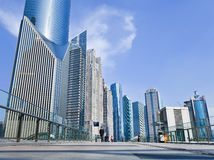 Grattacieli al distretto finanziario di Lujizui, Shanghai, Cina Immagine Stock