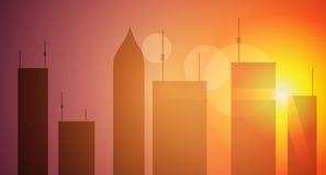 Grattacieli al tramonto Immagine Stock