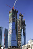 Grattacieli alti in costruzione, Dalian, Cina Fotografie Stock Libere da Diritti