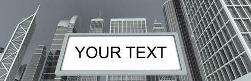 Grattacieli & tabellone per le affissioni illustrazione di stock