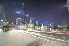 Grattacieli che costruiscono nella città di Shenzhen fotografia stock libera da diritti