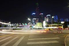 Grattacieli che costruiscono nella città di Shenzhen fotografia stock