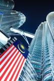 Grattacieli in città moderna immagini stock