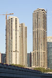 Grattacieli in costruzione, Pechino, Cina Fotografia Stock Libera da Diritti