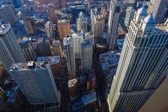 Grattacieli da sopra Immagini Stock Libere da Diritti