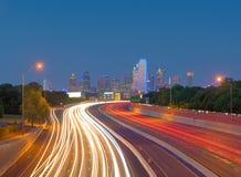 Grattacieli a Dallas del centro, il Texas, U.S.A. Fotografia Stock