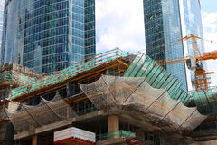 Grattacieli del centro di affari internazionale (città), Mosca Fotografia Stock Libera da Diritti