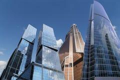 Grattacieli del centro di affari internazionale (città), Mosca, Russia Immagine Stock