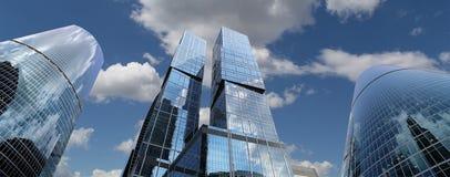 Grattacieli del centro di affari internazionale (città), Mosca, Russia Immagini Stock