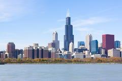 Grattacieli del centro di Chicago Fotografia Stock