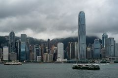 Grattacieli del centro di Hong Kong fotografia stock