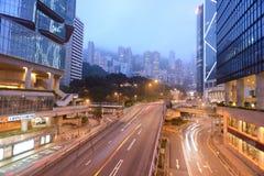 Grattacieli del centro di Hong Kong Immagine Stock Libera da Diritti