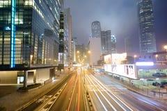 Grattacieli del centro di Hong Kong Immagini Stock