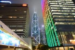 Grattacieli del centro di Hong Kong Fotografie Stock Libere da Diritti