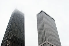 Grattacieli del centro - torrette urbane della città fotografia stock
