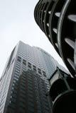 Grattacieli del centro - torrette urbane della città Fotografie Stock