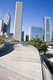 Grattacieli del Chicago dalla sosta di millennio Fotografie Stock Libere da Diritti