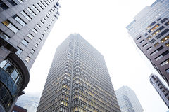 Grattacieli della città di Boston Fotografia Stock Libera da Diritti
