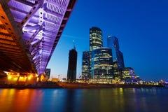 Grattacieli della città di Mosca Fotografia Stock Libera da Diritti