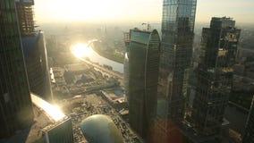 Grattacieli della città di Mosca stock footage