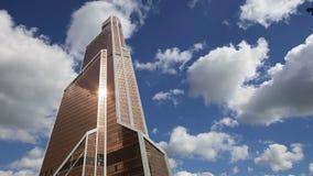 Grattacieli della città internazionale del centro di affari, Mosca, Russia archivi video