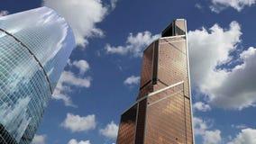 Grattacieli della città internazionale del centro di affari, Mosca, Russia stock footage