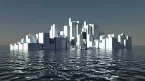 Grattacieli della città moderna futura a secco Immagini Stock