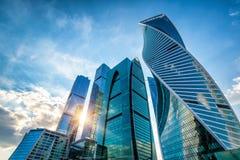 Grattacieli della Mosca-città Fotografie Stock Libere da Diritti
