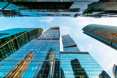 Grattacieli della Mosca-città Immagini Stock