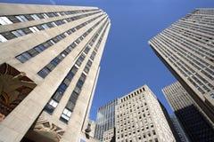 Grattacieli della plaza del Rockefeller Fotografie Stock Libere da Diritti