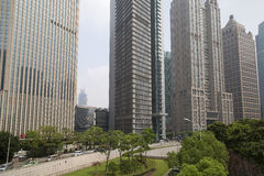 Grattacieli di area di Shanghai Lujiazhui Immagine Stock