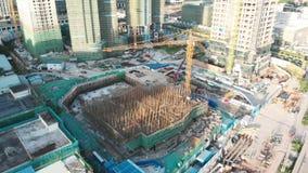 Grattacieli di costruzione in Cina video d archivio
