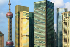 Grattacieli di lujiazui di Schang-Hai Pudong fotografia stock