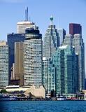 Grattacieli di lungomare di Toronto Immagini Stock