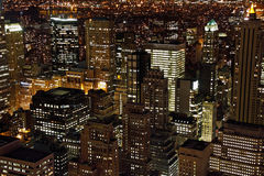 Grattacieli di Manhattan al crepuscolo Immagini Stock Libere da Diritti