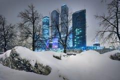 Grattacieli di Mosca Immagini Stock